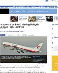 Americans on Board Missing Malaysia Airlines Flight Identified: ABCNews.com